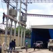 งานติดตั้งหม้อแปลงไฟฟ้าและลากสายไปยังตู้MDB